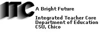 California State University, Chico, Integrated Teacher CORE logo